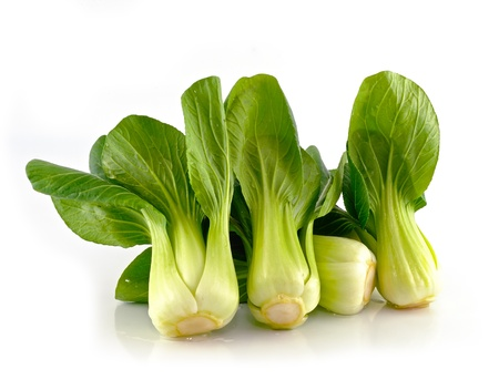 Bok choy (chou chinois) isol� sur blanc Banque d'images