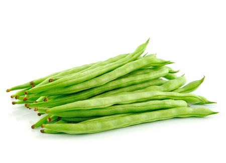 green peas on white background photo