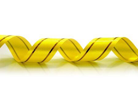 gift ribbon isolated on white Stock Photo - 12811141