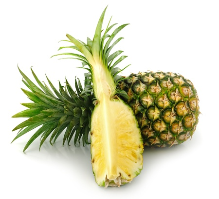 Pineapple slice isolated over white background