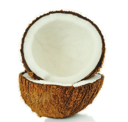 coconut isolated on white Stock Photo - 12994576
