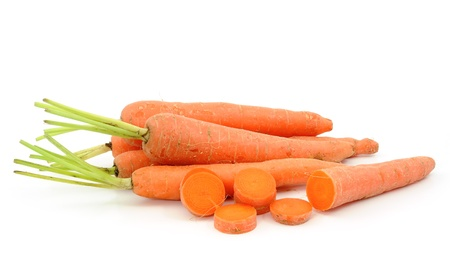 fresh carrots isolated on white background  Stock Photo - 12994557