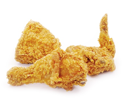 crispy: Golden brown fried chicken