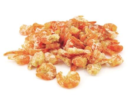 dried shrimp on white background  photo