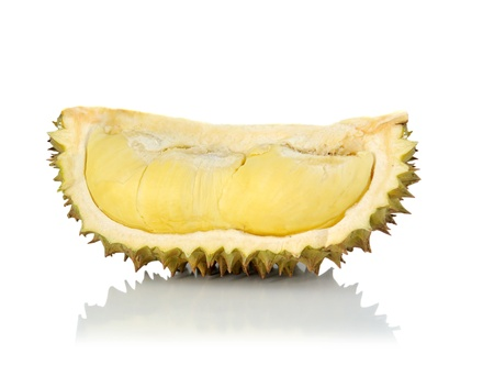 King of fruits, durian isolated on white background Stock Photo - 13570555