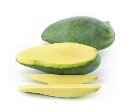 green mango: Green mango isolated on a white background