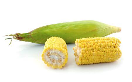 corn on a white background Stock Photo - 13739776