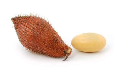 Tropical fruit : (Snake/ Salak/ Salacca/ Sala) on white background  Stock Photo - 13739837