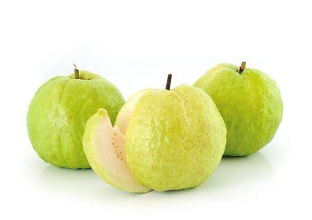 dietetical: Guavas on white background