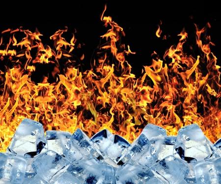 freezing: Burning ice cube