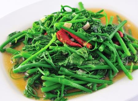 plato de comida: La comida tailandesa vegetariana. Foto de archivo