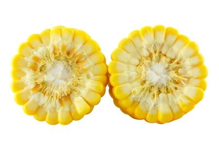 커널: 흰색 배경에 옥수수 스톡 사진