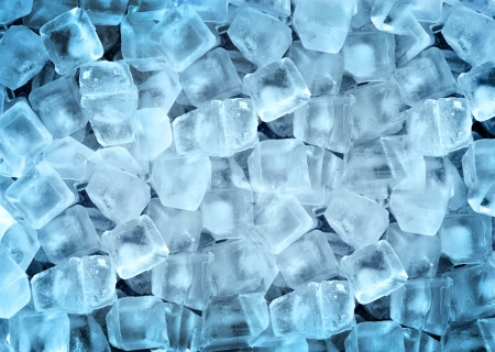 Background of ice cubes photo