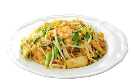 Thai food Pad thai , Stir fry noodles with shrimp Stock Photo - 14835324