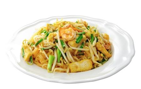 Thai food Pad thai , Stir fry noodles with shrimp Stock Photo - 14835324