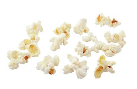 fresh pop corn: Pop Corn isolated on white background Stock Photo