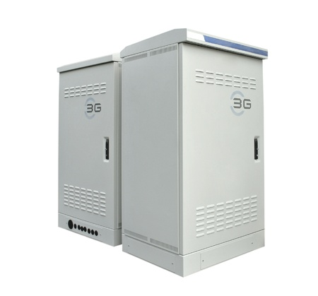 The communication server box on white background photo