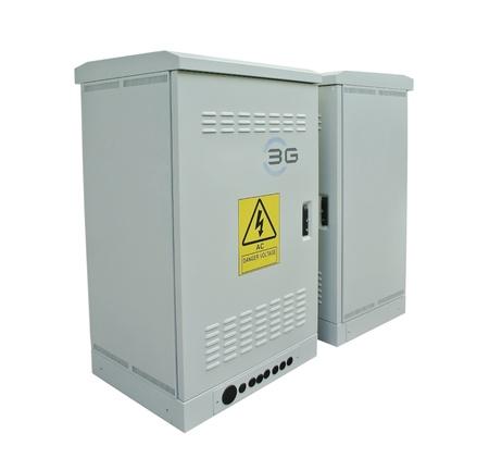 The communication server box on white background photo