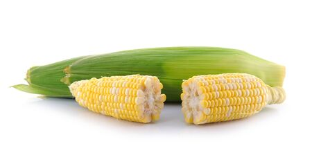 corn on a white background Stock Photo - 15171559