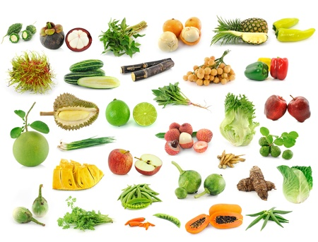 collection of fruits and vegetables photo