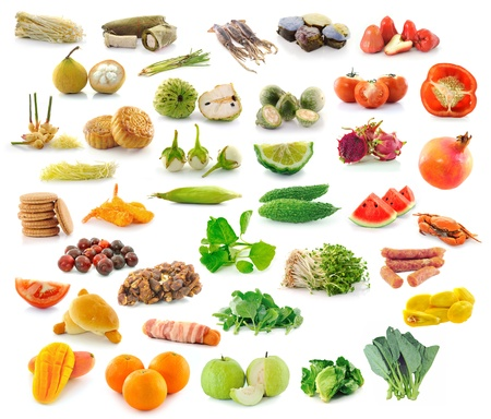Food collection isolated on white background Stock Photo - 15171584