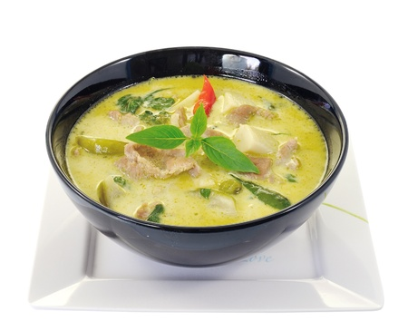 Green pork Curry , Thai cuisine Stock Photo - 15467194