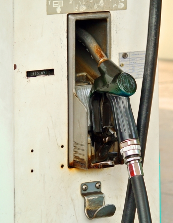 fuel oil gasoline dispenser at petrol filling station