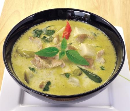 Green pork Curry , Thai cuisine Stock Photo - 15957080