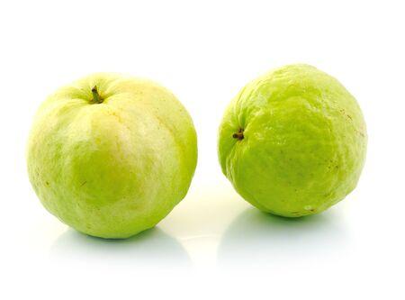 Guavas on white background Stock Photo - 16738810