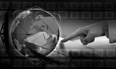 The social network.Internet concept Stock Photo - 17004995
