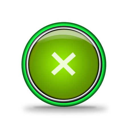 green shiny button with elements,  design for website. Stock Photo - 17005002
