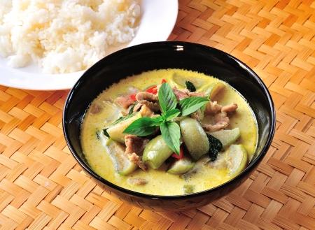 Green pork Curry , Thai cuisine Stock Photo - 17439966