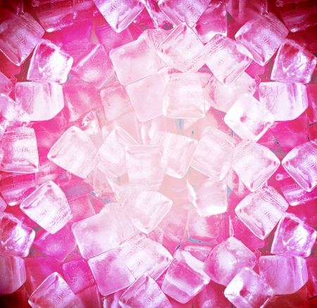 background with ice cubes in red light Stock Photo - 17439957