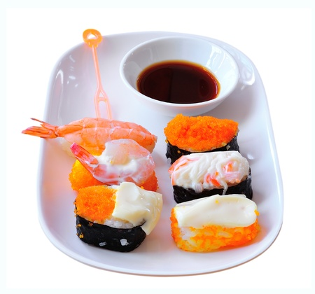 sushi on white background Stock Photo - 17439921