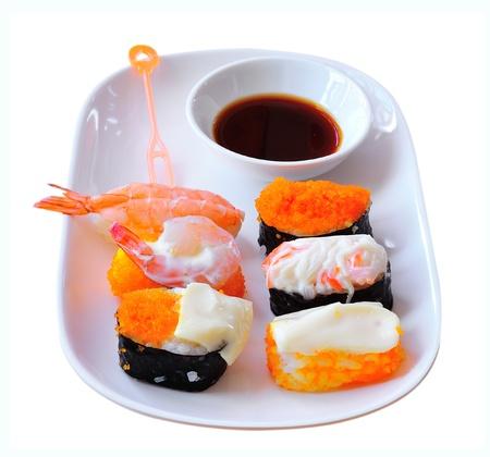 sushi on white background Stock Photo - 17439921