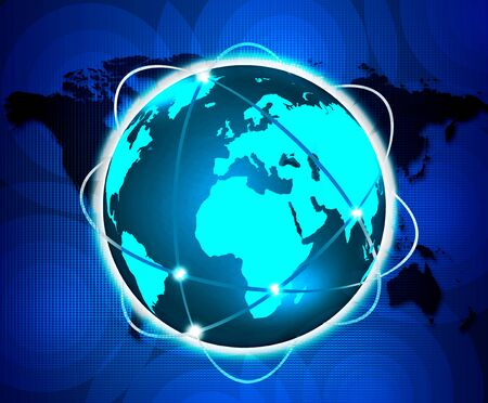 Internet Concept of global business from concepts series Stock Photo - 17439963