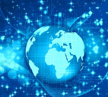 Globe with pointers, signals and social networking icons, Social media network Stock Photo - 17439952