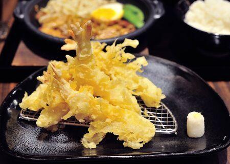 Japanese Cuisine - Tempura Shrimps (Deep Fried Shrimps) Stock Photo - 17439955