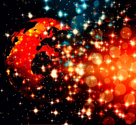 abstract world technology background Stock Photo - 17439920