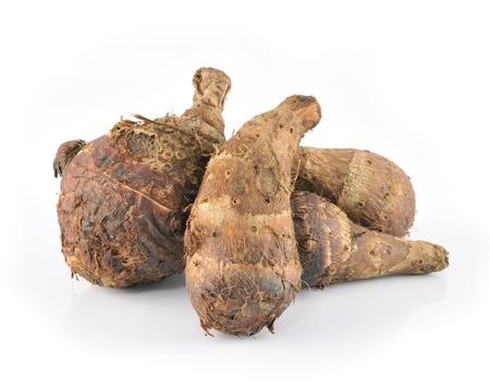 taro roots on white Stock Photo - 17439910