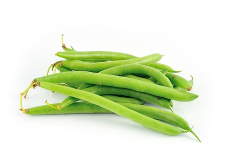 green beans on white background Stock Photo - 18050250