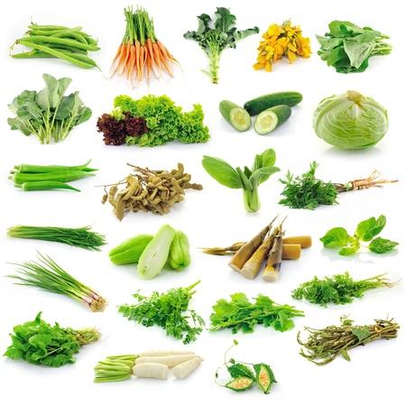 Collection de légumes isolé sur fond blanc Banque d'images