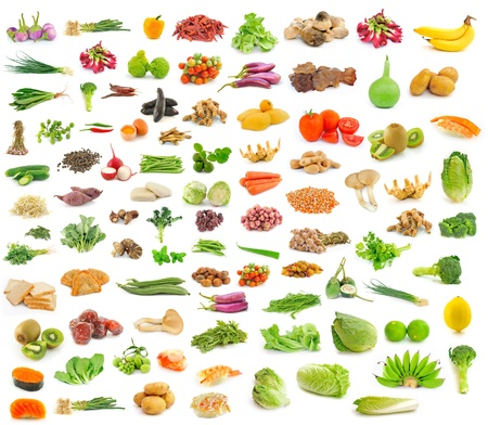 collection of fruit and Vegetables Stock Photo - 18968087