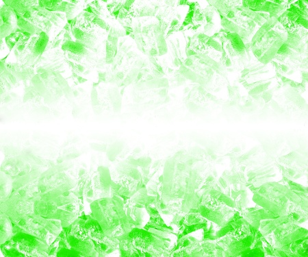Background of green ice cubes photo