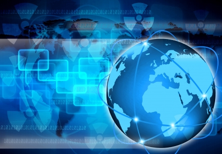 computer software: abstract the world business  and Technology Stock Photo