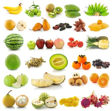 fruta tropical: Colecci�n de frutas