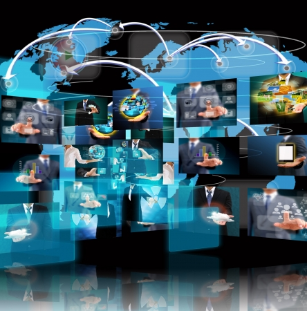 Television and internet production  technology and business concept Stock Photo