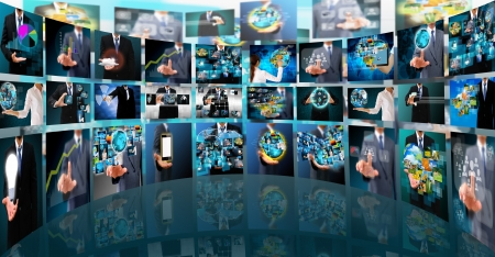 Television and internet production  technology and business concept photo