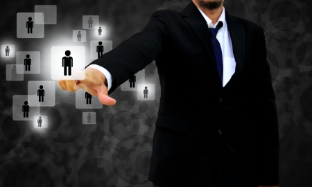 talents: Businessman choisir la bonne personne