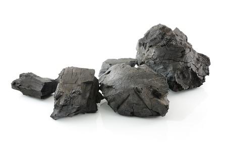 Coal on white background Stock Photo - 22096050